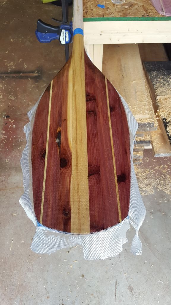 Picture of Fiberglass and Epoxy the Paddle Blade