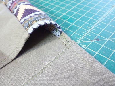 Cut Notches in Flap, Fold Right-sides Out