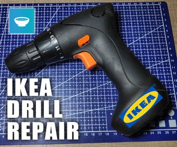 Fixing IKEA FIXA 7.2V Battery Drill That Won't Spin