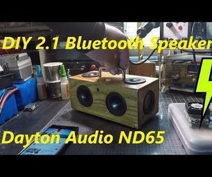 !!Awesome!! DIY Mini Bluetooth Speaker BoomBox Build Dayton Audio ND65-4 & ND65PR