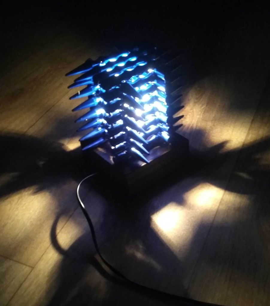 Picture of Unusual Lamp Made of Kubotans