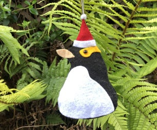 Yellow-eyed Penguin Christmas Tree Decoration