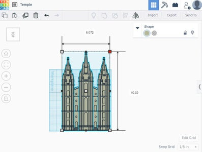 Customizing the Design in TinkerCAD