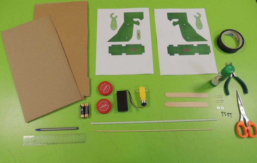 Picture of Classroom Activity: Make a Motorized Cardboard Dinosaur