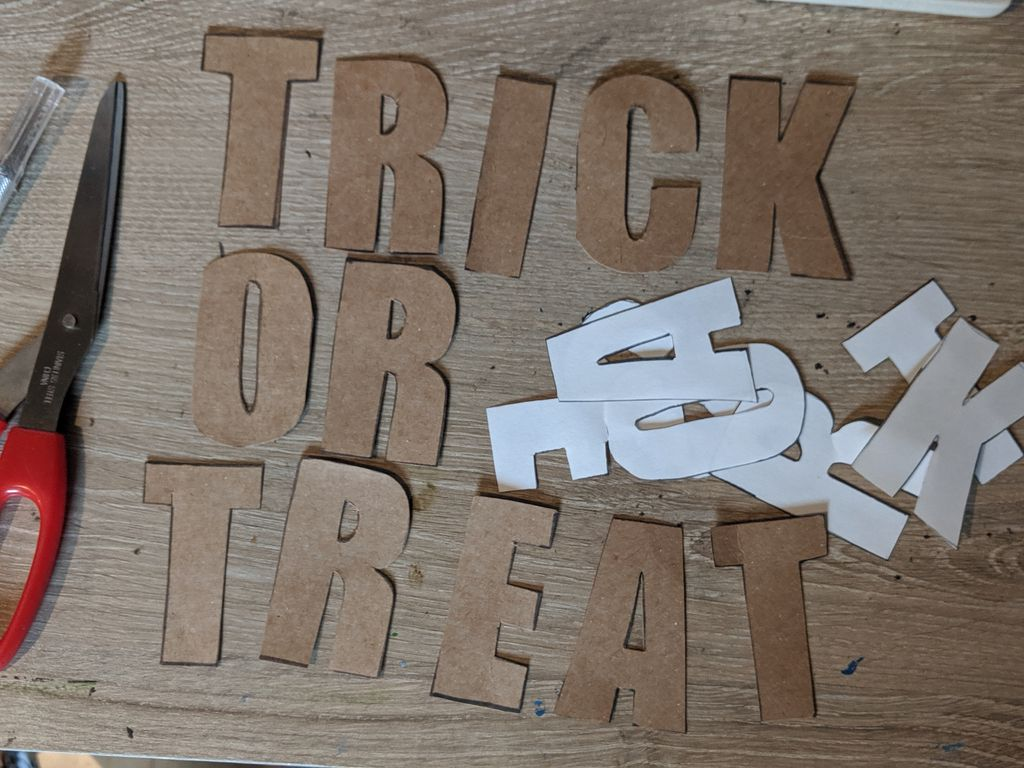 Picture of Cut Out Letters