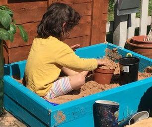 托盘沙坑 -  DIY在2小时内从2个托盘!