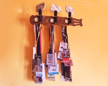 Classical Guitar Pegheads-shaped Display Rack/coathanger