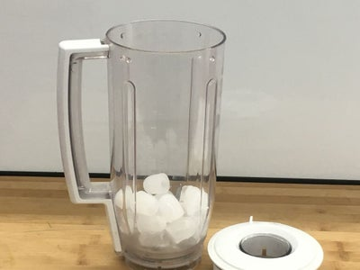 First, Add the Ice to the Blender