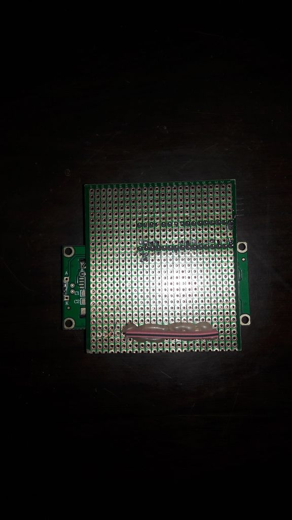 Picture of Connection Between LCD and Adapter