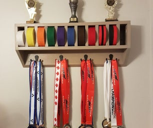 One Board Taekwondo Belt Display