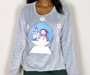DIY 3D亮灯雪球丑陋的圣诞毛衣
