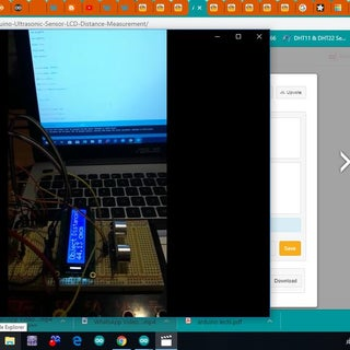 Arduino Ultrasonic Sensor LCD Distance Measurement