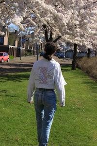 Sashiko Inspired Embroidered Jacket
