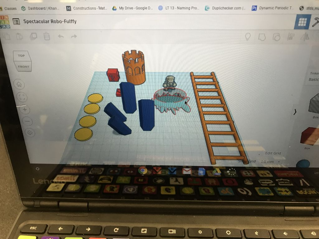 Picture of Using the Reference Photo, Create Different Aspects of the Picture in TinkerCad, or Any 3D Modeler of Your Choice. ( Hills, Ladder, Castle, Rocks, Etc. )