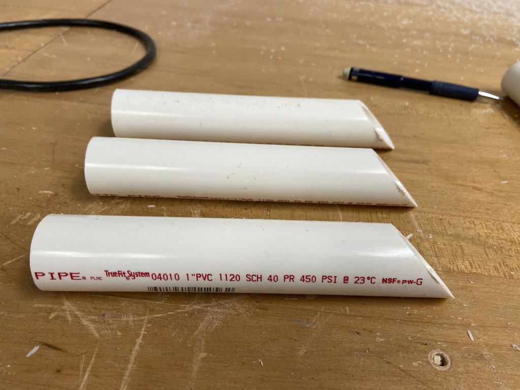 Picture of Cutting PVC Pipes for Stakes