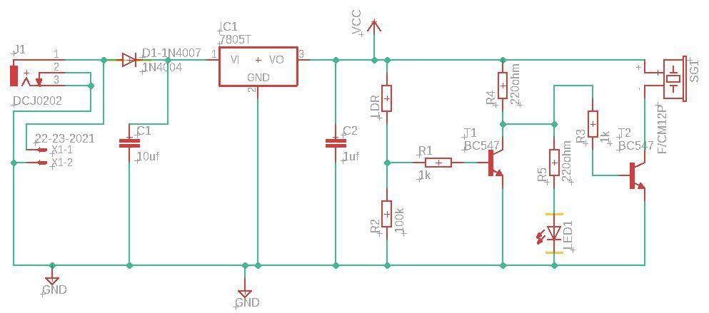Picture of Circuit Schematic & Working