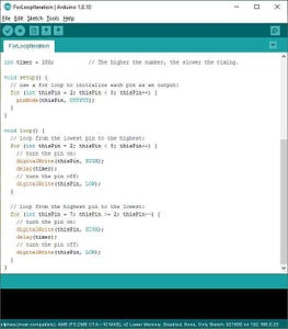 Arduino Auto Formatting Listings