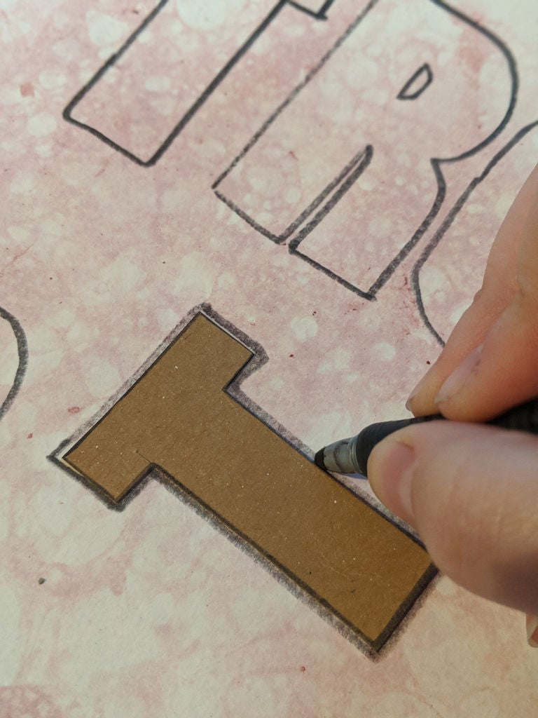 Picture of Cut Out Letters, Cont.