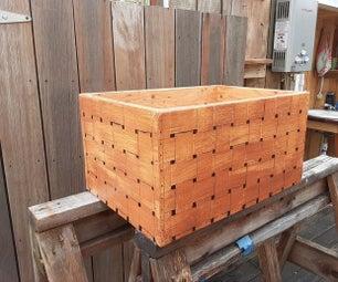 人造编织设计的自行车储物箱