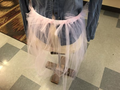 Applying the Tulle to the Elastic Band
