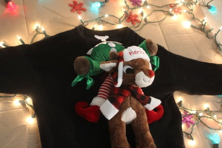 Rudolph Riding Elf Ugly Christmas Sweater