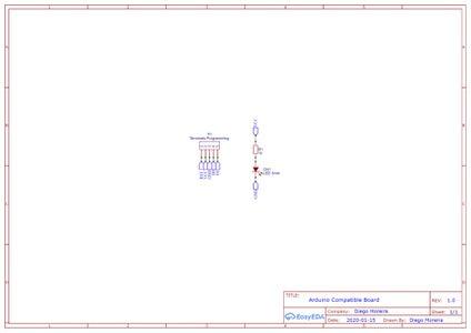 ATMEGA328P CHIP Programming Circuit and the In-Circuit Signaling LED