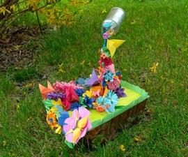 一个幸福的花园(有一个浮动的罐子)