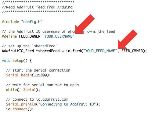 Picture of Arduino IDE: Read Adafruit Feed