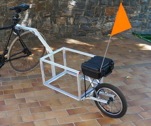 单轮自行车挂车(无焊接)