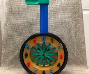 独轮车时钟