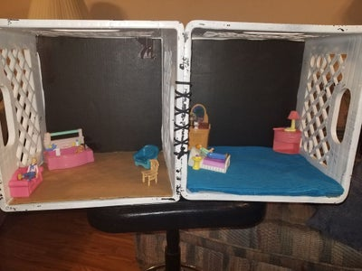 Foldable Milkcrate Doll House
