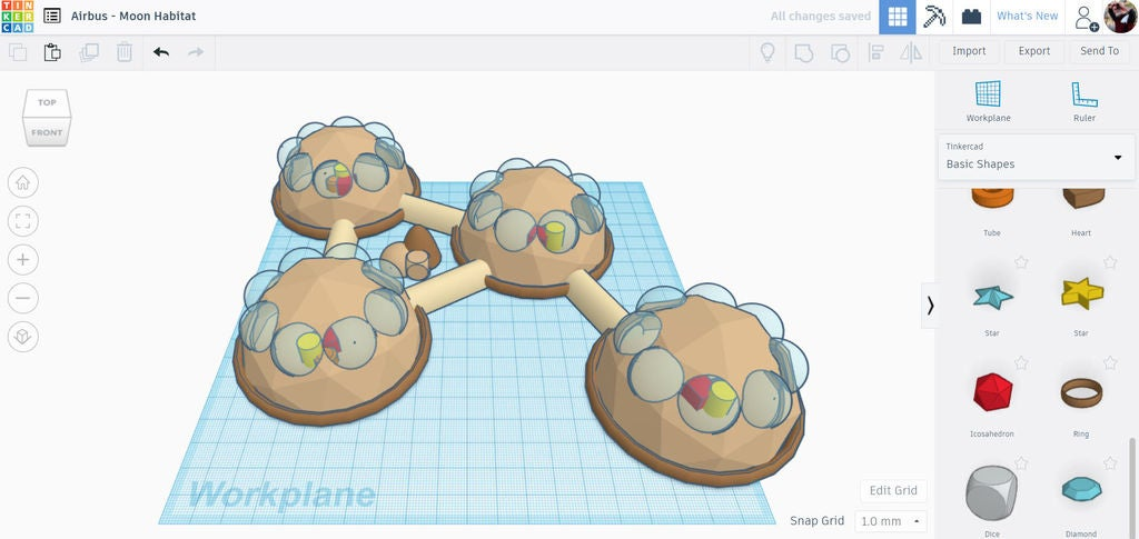 Picture of Design a Moon Habitat in Tinkercad