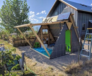 Convertible Backyard A-frame Fort From a Swing Set.