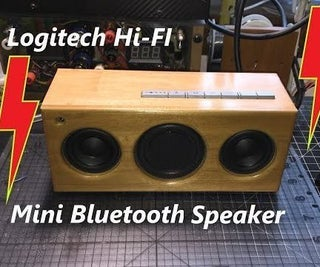 DIY Logitech Pure Fi Anywhere 2 Rebuild & Mini Bluetooth Speaker Upgrade Conversion