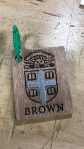 Brown BDW-made Keychain