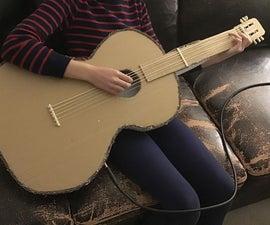 自制纸板电吉他