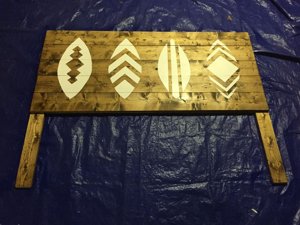 Picture of Paint the Surfboards on the Headboard.