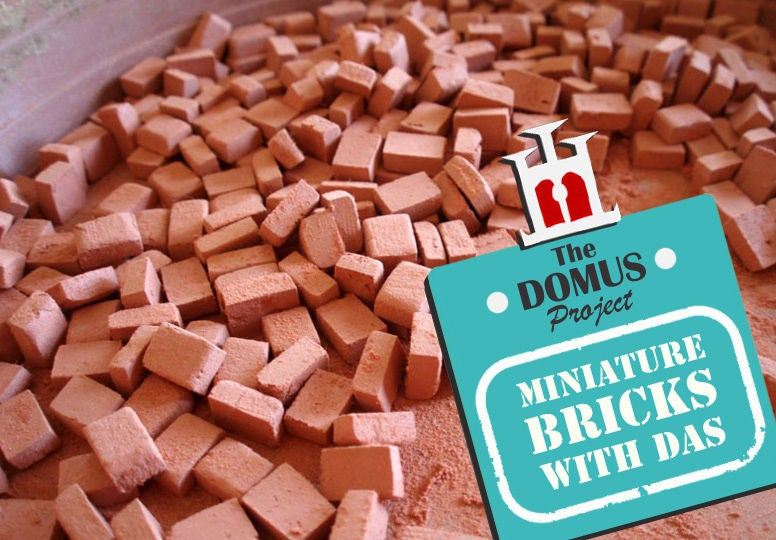 Picture of How to Make Miniature Bricks With Das Clay