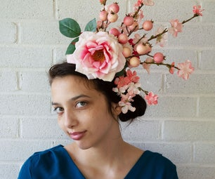 优雅的樱花头巾