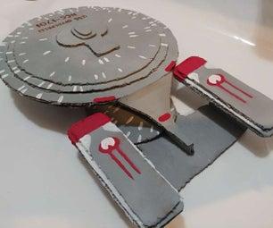Star Ship Enterprise From Cardboard