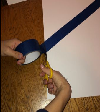 Picture of Section Off Your Canvas Using Tape
