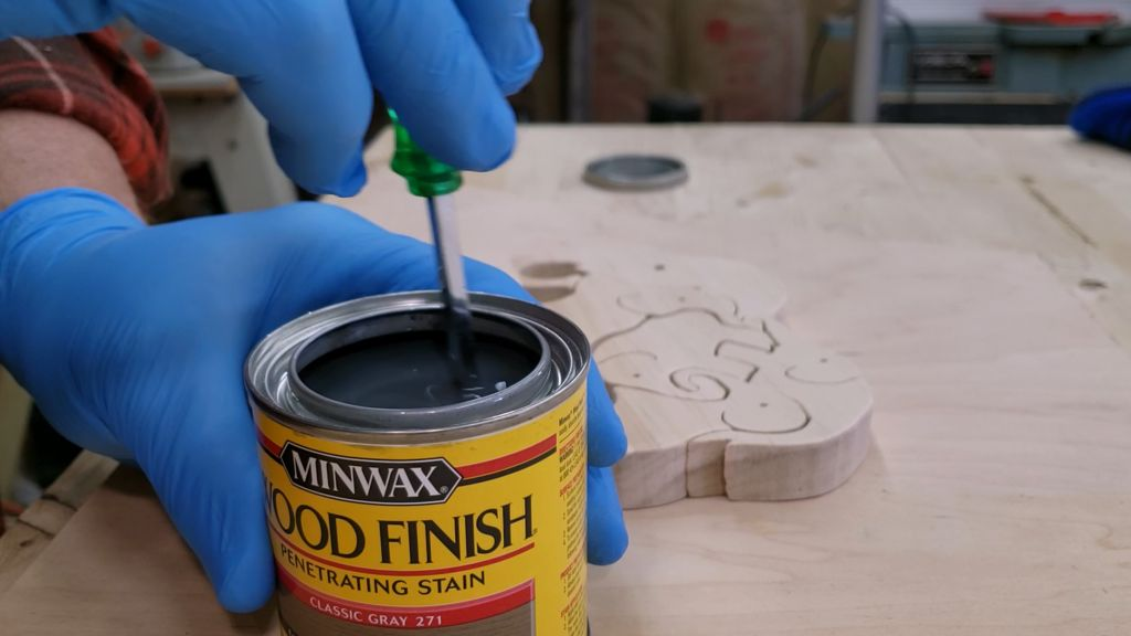 Picture of Apply Your Stain or Paint of Choice.