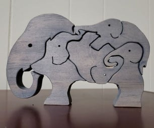 Children's Scroll Saw Puzzle
