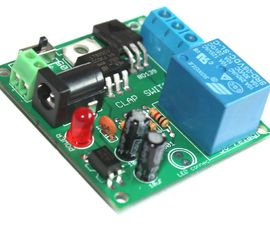 A relay module DIY kit for the popular clap switch