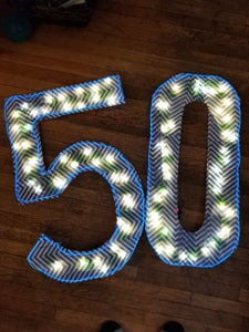 Light Up Birthday Numbers