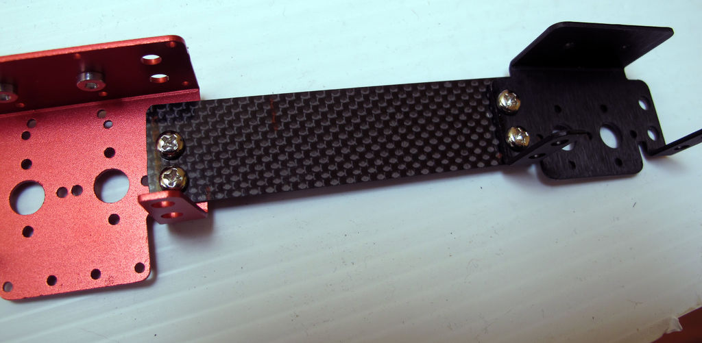 Picture of Prepare the Frame: Attach the Brackets to the Carbon Fiber