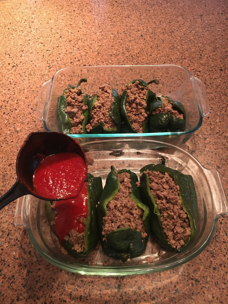 Picture of Now for the Stuffed Poblanos & Cauliflower Rice