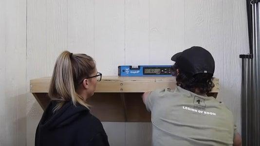 Attach Shelf to Wall and Add Torsion Box