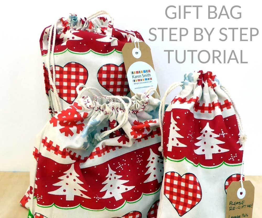 How to Make a Reusable Fabric Gift Bag