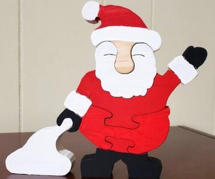 Santa Claus Scroll Saw Puzzle